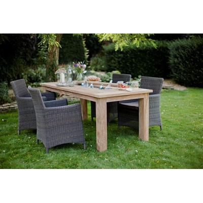 ST MAWES DRINKS/PLANTER TABLE in Reclaimed Teak