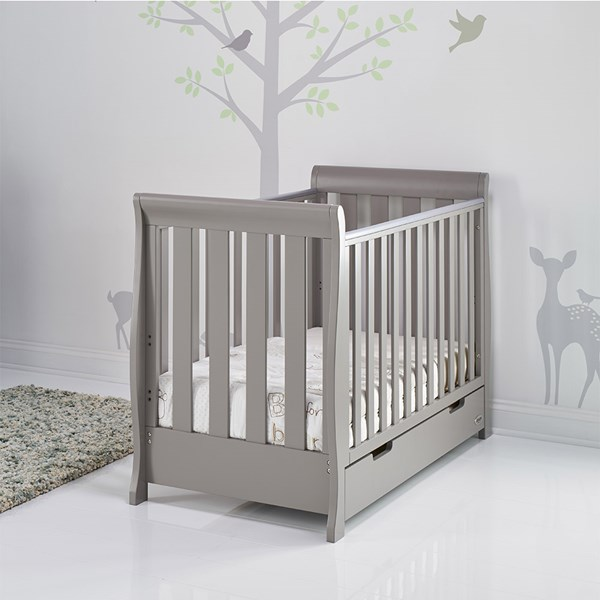 Stamford Mini Cot Bed in Taupe Grey by Obaby