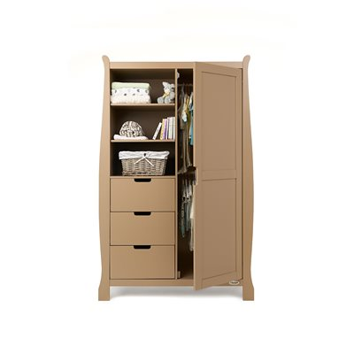 STAMFORD DOUBLE WARDROBE in Iced Coffee by Obaby