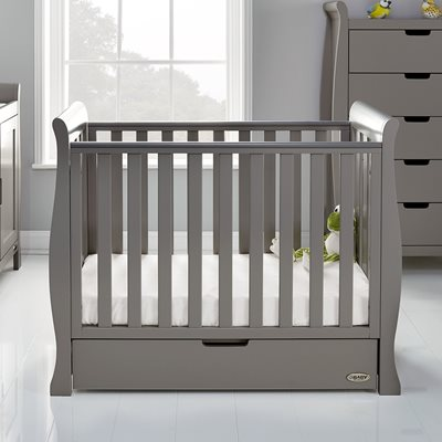 Obaby Stamford Space Saver Cot in Taupe Grey