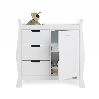 STAMFORD DRESSER & BABY CHANGING UNIT in White by Obaby