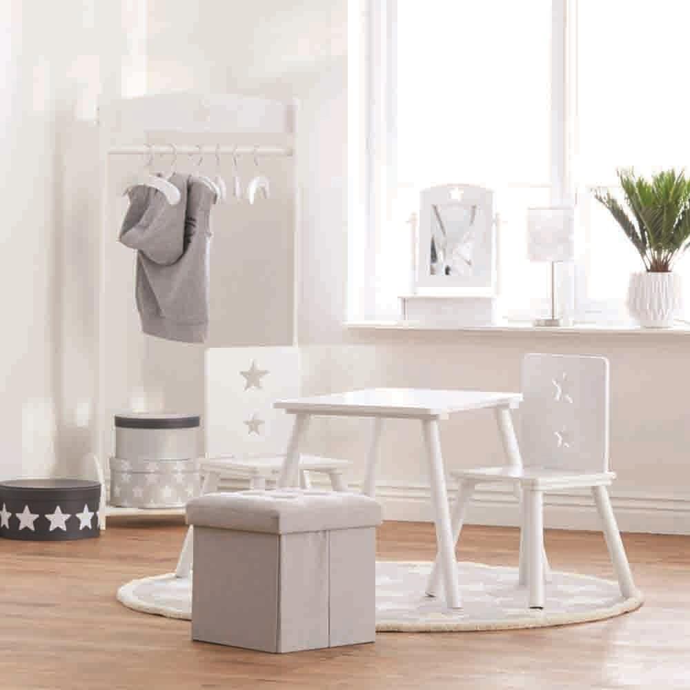 Star White Wooden Clothes Rail - Kids Concept
