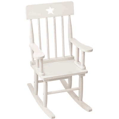 White Wooden Rocking Chairs