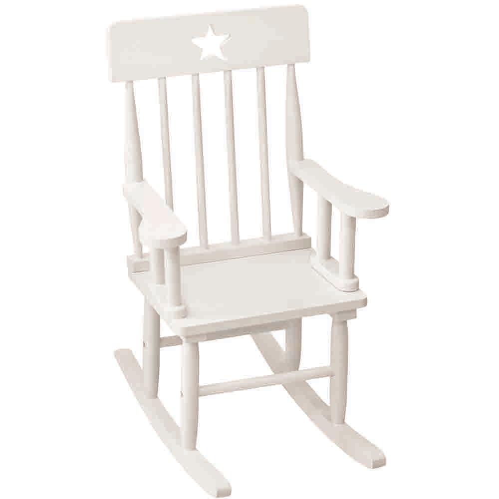 Star White Wooden Rocking Chair - Kids Chairs & Sofas  Cuckooland