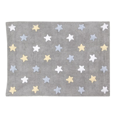 KIDS WASHABLE RUG in Tricolour Stars