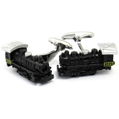 STEAM TRAIN CUFFLINKS in Chrome Box