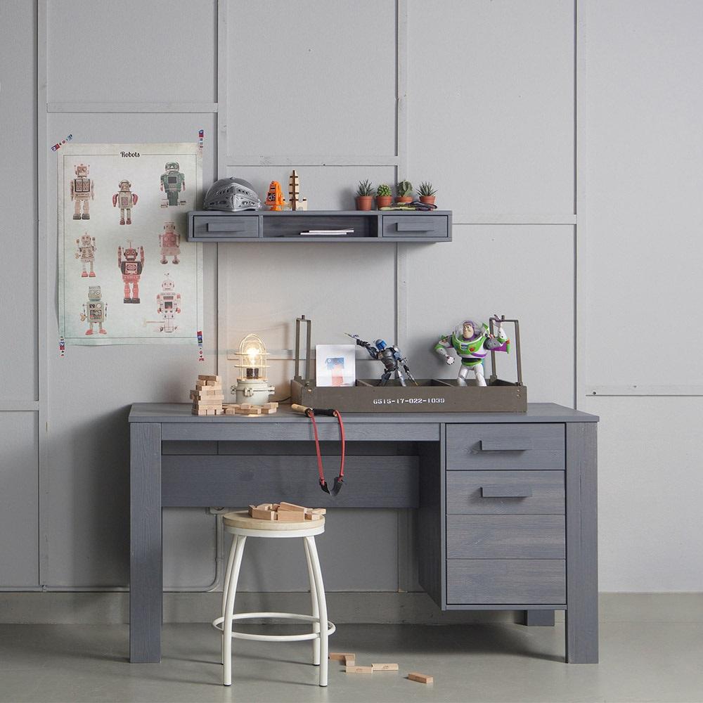 Steel Grey Computer And Office Desk Jpg
