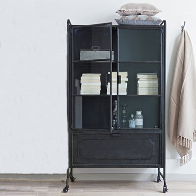 STEEL DISPLAY CABINET in Black