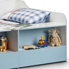 Low Sleep Kids Bed with Storage Space for Toys & Books