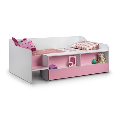 LOW SLEEP KIDS BED in Pink & White