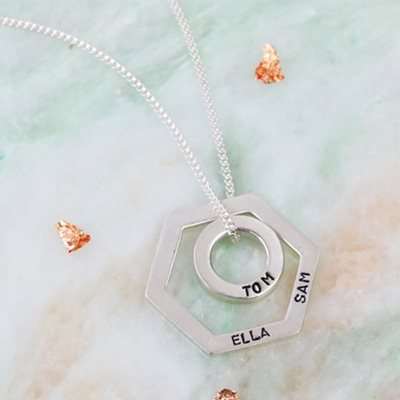 PERSONALISED GEOMETRIC PENDANT NECKLACE