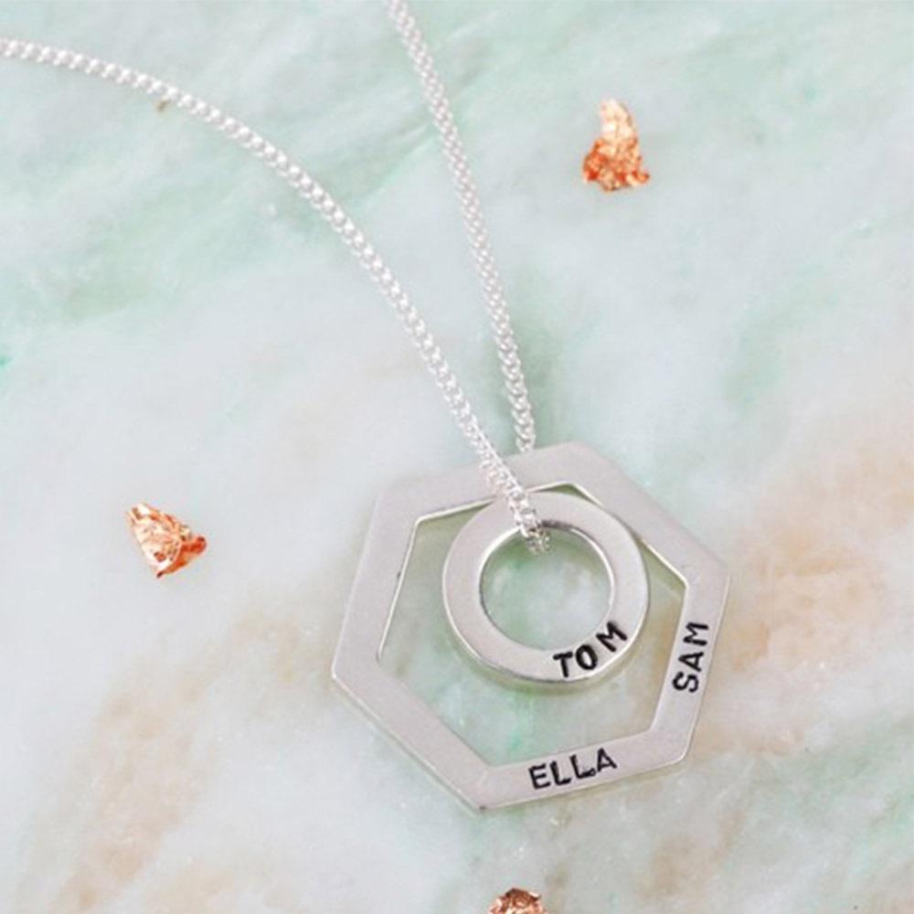 Personalised geometric pendant necklace lisa angel cuckooland sterling silver personalised pendant necklaceg aloadofball Choice Image