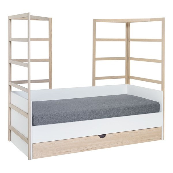 Child's Single Bed with Wooden Hanging Frames