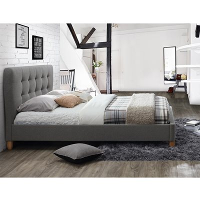 STOCKHOLM UPHOLSTERED BED in Grey by Birlea