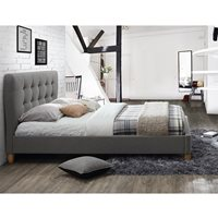 STOCKHOLM UPHOLSTERED BED in Grey by Birlea  Double