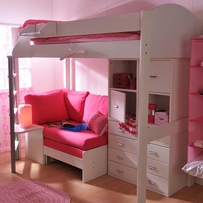 Stompa Casa Kids High Sleeper Bed In White Kids Avenue