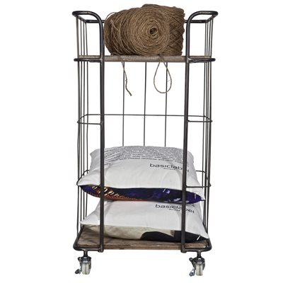 GIRO INDUSTRIAL TROLLEY STORAGE with 2 Shelves by Be Pure Home