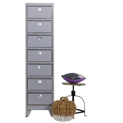 INDUSTRIAL 7 DRAWER LOCKER CABINET in Wild Dove Grey