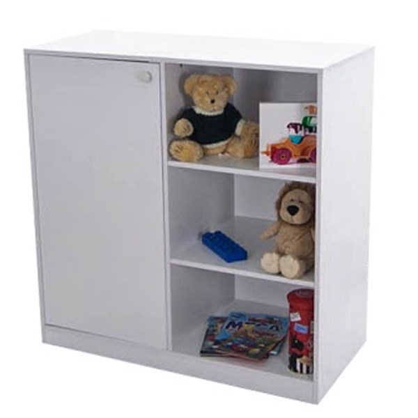 Wizard Kids Cupboard and Bookcase in White
