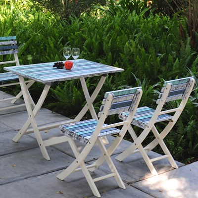 Strassbourg_folding_garden_furniture_set Strassbourg Vintage Garden Dining Set  ...
