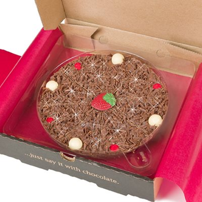 "7"" STRAWBERRY PIZZA by The Gourmet Chocolate Pizza Company"