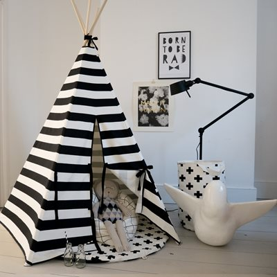 WILDFIRE KIDS TEEPEE in Stripes with Black Trim
