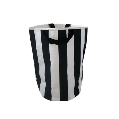 WILDFIRE KIDS TOY STORAGE BAG in Stripes with Black Handles