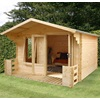 Studio Log Cabin with Veranda by Mercia