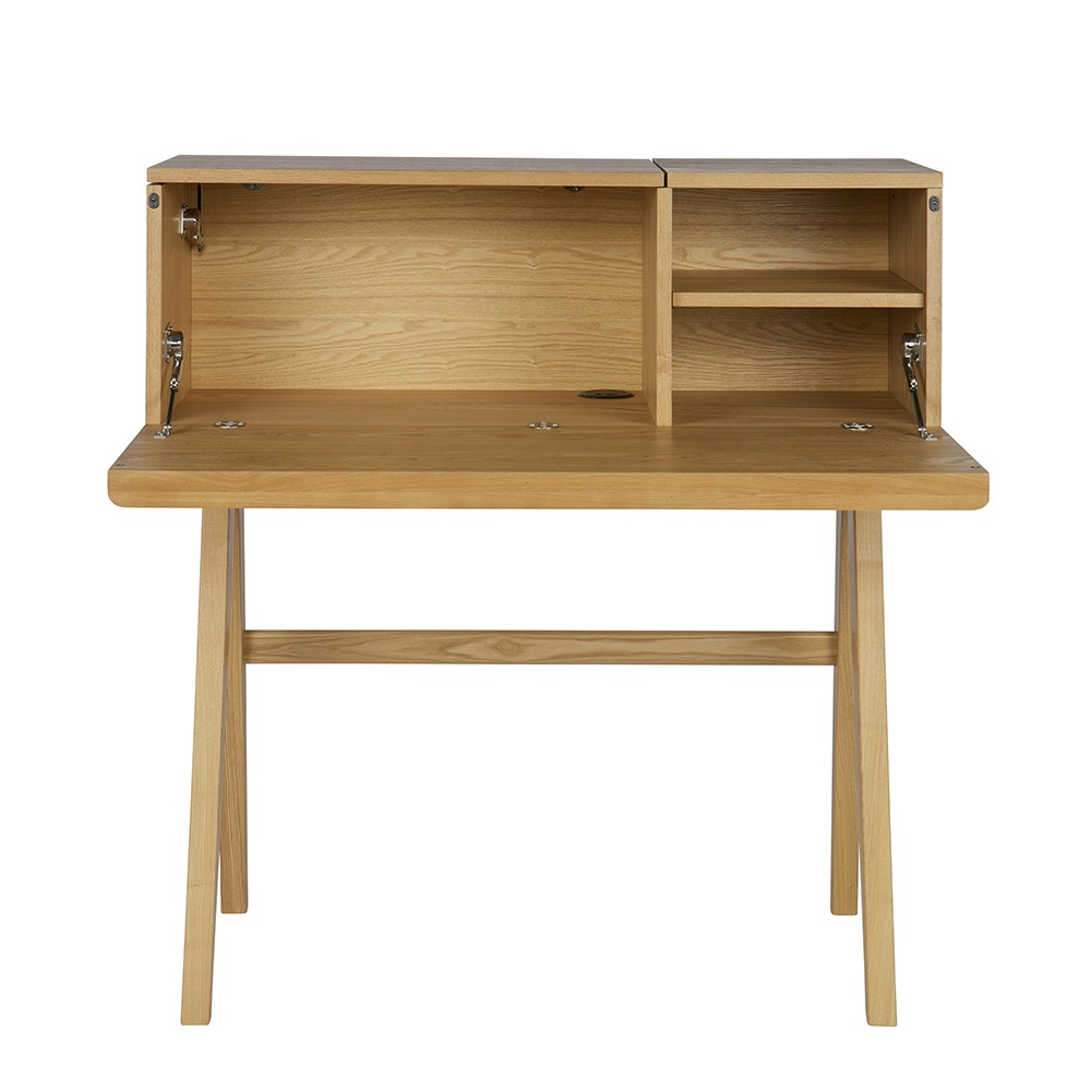 bureau writing desk in ash veneer home office cuckooland