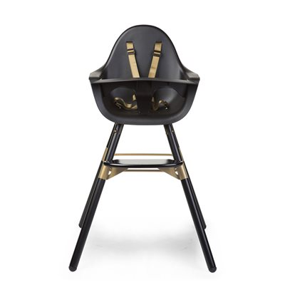 2 IN 1 EVOLU HIGH CHAIR in Black and Gold