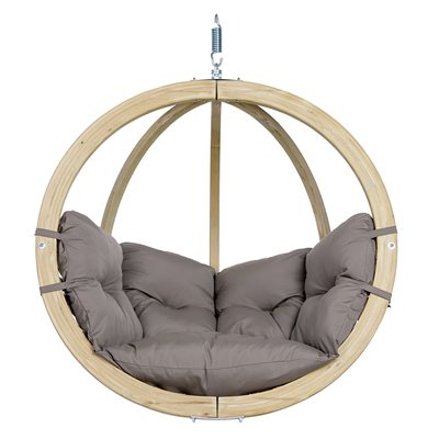Globo Garden Hanging Chair in Weatherproof Taupe