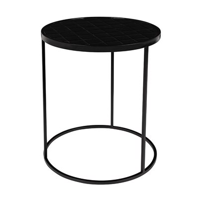 Zuiver Glazed Side Table in Black