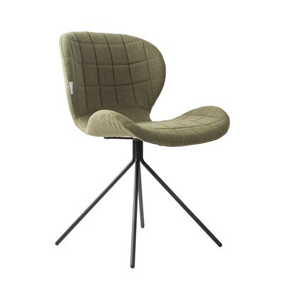 ZUIVER PAIR OF OMG UPHOLSTERED DINING CHAIRS in Green