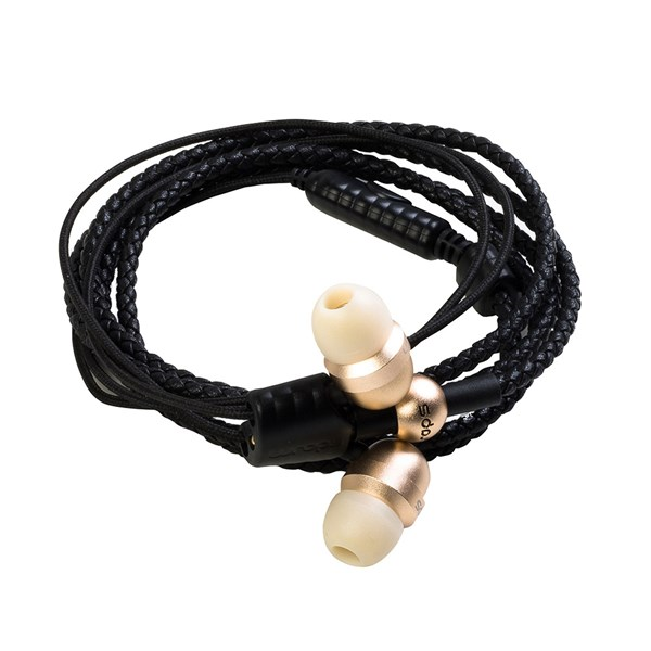 Wraps Core Wristband Headphones with Microphone in Gold