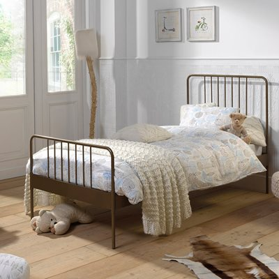 JACKY SINGLE METAL BED in Gold