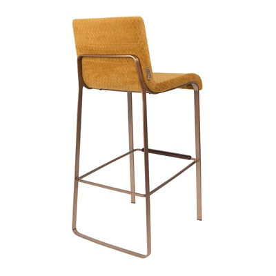 Super Dutchbone Flor Upholstered Bar Stool In Ochre - Dutchbone | Cuckooland EI72