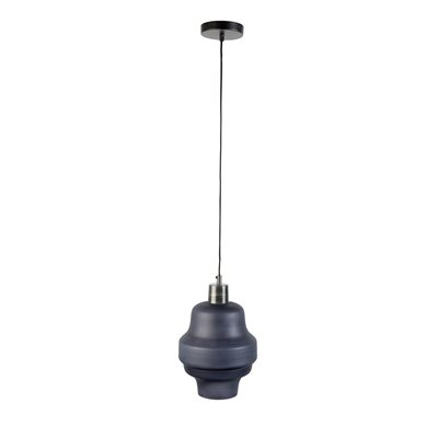 ROSE GLASS PENDANT LIGHT in Anthracite