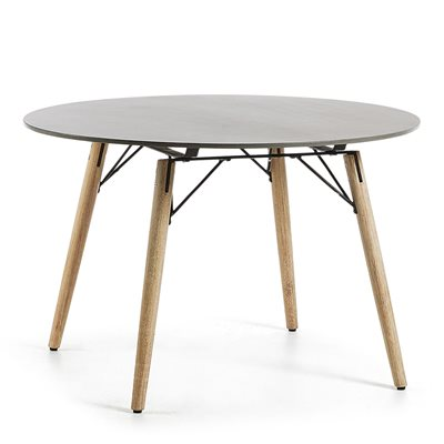 Tropo Round Dining Table in Eucalyptus Wood