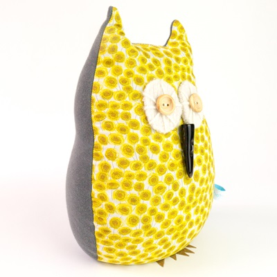 OWL LIBERTY PRINT LAVENDER DOORSTOP Sunbeam Cotton