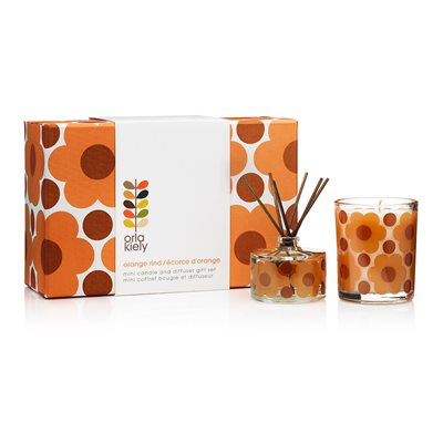 ORLA KIELY Candle & Diffuser Gift Set in Sunset Flora