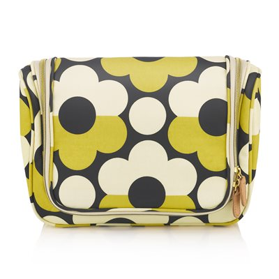 ORLA KIELY LARGE HANGING WASH BAG in Sunset Flora
