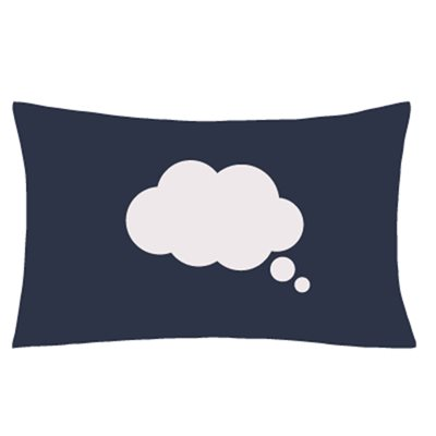 ILLUMINATED APPAREL DREAM CLOUD GLOW SKETCH PILLOWCASE in Navy