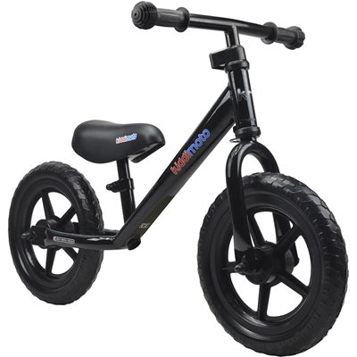 SUPER JUNIOR BALANCE BIKE in Black by Kiddimoto