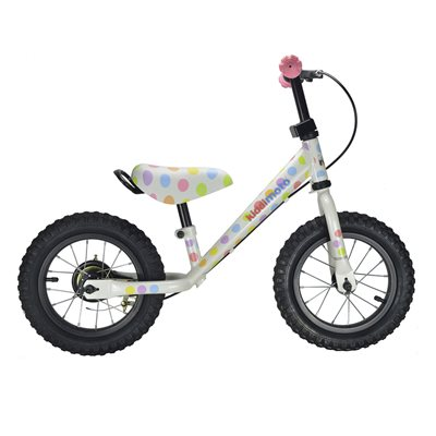 SUPER JUNIOR MAX BALANCE BIKE in Pastel Dotty by Kiddimoto