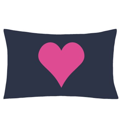 ILLUMINATED APPAREL LOVE HEART GLOW SKETCH PILLOWCASE in Navy