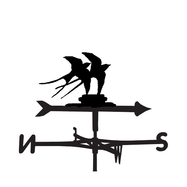 Swallow Designed Bird Weathervane