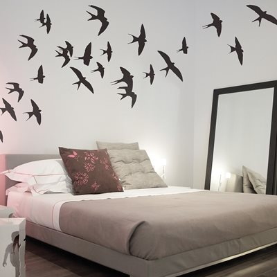 WALL STICKER in 'Swallows' design
