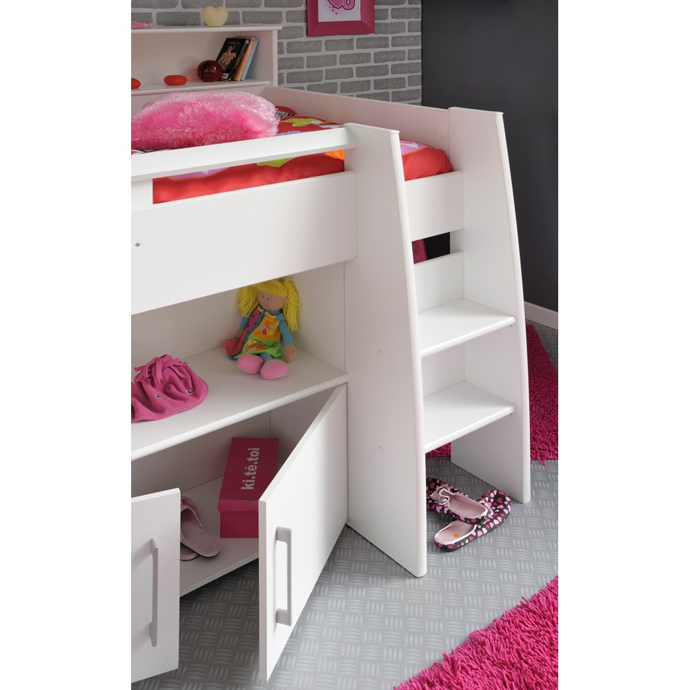 Kids swan mid sleeper with desk and storage kids beds - Lit enfant avec bureau ...