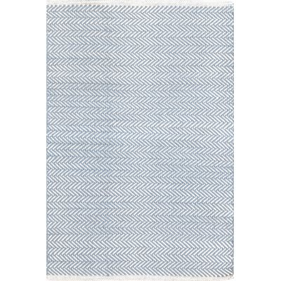INDOOR HERRINGBONE RUG in Swedish Blue
