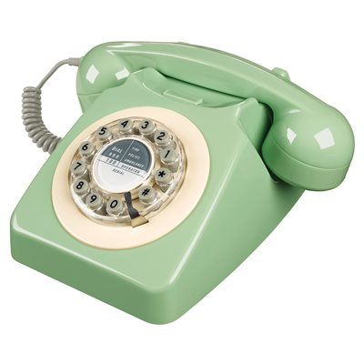RETRO TELEPHONE in Swedish Green